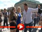 David Hasselhoff Sightseeing mit seinen Töchtern