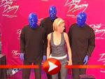 Die Blue Man Group bei der Premiere des Dirty Dancing Musicals