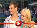 Dorkas Kiefer und Bruder Vinzenz Kiefer zu Gast bei der Fantastic Four Premiere in Berlin