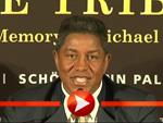 Jermaine Jackson bei der Pressekonferenz in Berlin