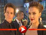 Jessica Alba und Ioan Gruffudd im Interview bei der Fantastic Four Premiere in Berlin