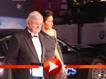 Joschka Fischer und Minu Barati-Fischer bei der Cinema for Peace Gala
