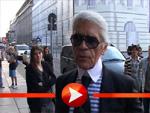 Karl Lagerfeld auf Überraschungsbesuch in Berlin