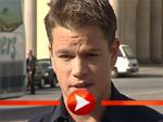 Matt Damon posiert vor dem Brandenburger Tor
