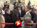 Will Smith und Rosario Dawson zwischen Fans