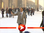 Will Smith lädt zum Photocall vor dem Brandenburger Tor