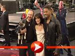 Will Smith, Lara Flynn Boyle und Regisseur Sonnefeld strahlen um die Wette