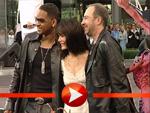 Will Smith, Lara Flynn Boyle und Barry Sonnenfeld bei der Men in Black II Premiere