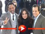 Will Smith, Rosario Dawson und Gabriele Muccino vor dem Brandenburger Tor
