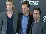 Dreimal lecker Hollywood: Chris Hemsworth, Mark Ruffalo und Tom Hiddleston in Berlin