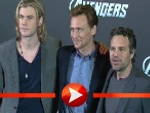 Chris Hemsworth, Tom Hiddleston und Mark Ruffalo in Berlin