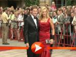 Veronica Ferres und Carsten Maschmeyer posieren in Bayreuth