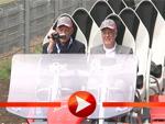 Boris Becker im Schritt-Tempo in der Achterbahn
