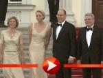 Charlène und Albert von Monaco treffen zum Bankett bei Joachim Gauck ein