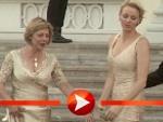 Albert und Charlène von Monaco posieren mit Joachim Gauck und Daniela Schadt