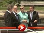 Albert und Charlène von Monaco unternehmen mit Guido Westerwelle eine Dampferfahrt auf der Spree