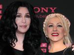 Christina Aguilera und Cher: Ganz in Schwarz in Berlin