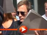 Daniel Craig, Harrison Ford und Olivia Wilde schreiben Autogramme in Berlin