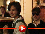 Tom Cruise mit Sonnenbrille, Katie Holmes im Dirndl-Look