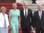 Fürst Albert und Fürstin Charlène: Arm in Arm beim Bundespräsidenten