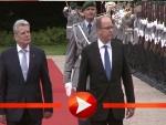 Joachim Gauck empfängt Fürst Albert mit militärischen Ehren