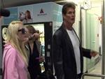 David Hasselhoff und seine Töchter: Koffer-Chaos in Berlin
