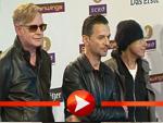 Depeche Mode posieren im Blitzlichtgewitter