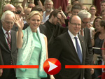 Charlène und Albert von Monaco verlassen das Hotel Adlon