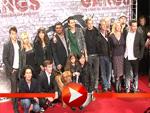 "Jimi Blue und Wilson Gonzalez posieren bei der ""Gangs""-Premiere in Berlin"