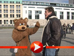 David Hasselhoff: Ein Bär erklärt ihm Osten und Westen
