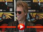 Jon Bon Jovi posiert in Berlin