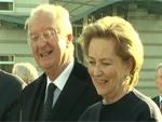 König Albert II. und Königin Paola: Romantischer Spaziergang durchs Brandenburger Tor!