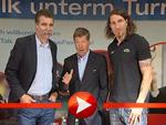 Stefan Kretzschmar und Heiner Brand stehen Rede und Antwort
