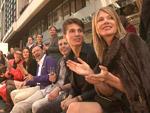Schrille Outfits: Promis beäugen Freizeit-Models
