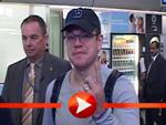 Matt Damon kommt mit Sack und Pack in Berlin an