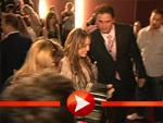 Miley Cyrus bei der Premiere im Kino