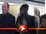Naomi Campbell am Flughafen Tegel