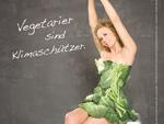 Katja Riemann: Im Gemüse-Kleid für den Klimaschutz