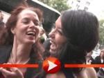 Rebecca Mir küsst ihre Mama