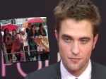 Robert Pattinson in Berlin: Fan-Freude unterm Regenschirm!