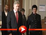 Shah Rukh Khan und Klaus Wowereit im Roten Rathaus