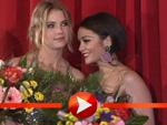Vanessa Hudgens, Selena Gomez, Ashley Benson und Regisseur Harmony Korine kuscheln im Kino