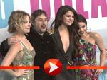 Vanessa Hudgens, Selena Gomez, Ashley Benson und Regisseur Harmony Korine in Berlin