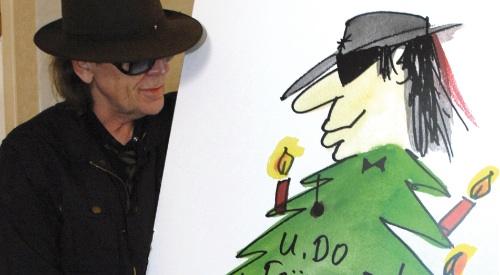 Weihnachtskarten Udo Lindenberg.Udo Lindenberg Wird Für Unicef Zum Weihnachtsbaum Tikonline De