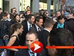 Robert Downey jr. mit seiner Ehefrau Susan: Verlassen ebenfalls das Kino