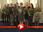 """Katja Riemann hat Spaß mit der Film-Crew von """"Das Wochenende"""""""