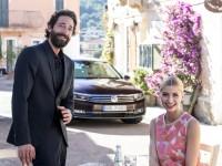 Adrien Brody und Lena Gercke posieren in Sardinien