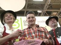 Andreas Gabalier rührt die Werbetrommel für steirische Äpfel