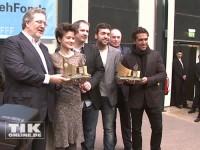 """""""Fack ju Göhte"""" mit Star Elyas M'Barek räumte beim Berlinale-Empfang des FilmFernsehFond Bayern 2014 ordentlich ab"""
