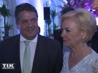 Liz Mohn und Bundeswirtschaftsminister Sigmar Gabriel bei der Bertelsmann Party 2015